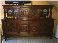 Бретонский дубовый буфет, стол и 6 стульев