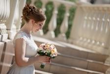 Красивое и элегантное свадебное платье А-силуэта!