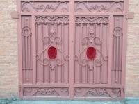 Металлические ворота с элементами ковки. 390 $