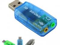 Новая USB-звуковая карта 70 руб