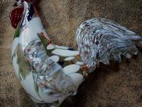 Статуэтка петуха цветное стекло СССР. 580 Lei