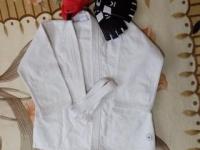 Профессиональное кимоно, шлем, перчатки